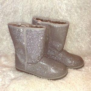 Girls Cherokee Girls Boot Short Silver Glitter 5